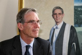 Professor Stevely, with his portrait