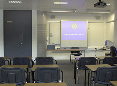 Faculty of Health and Social Care classroom